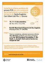 cartell anunciatiu del cribratge massiu a Girona